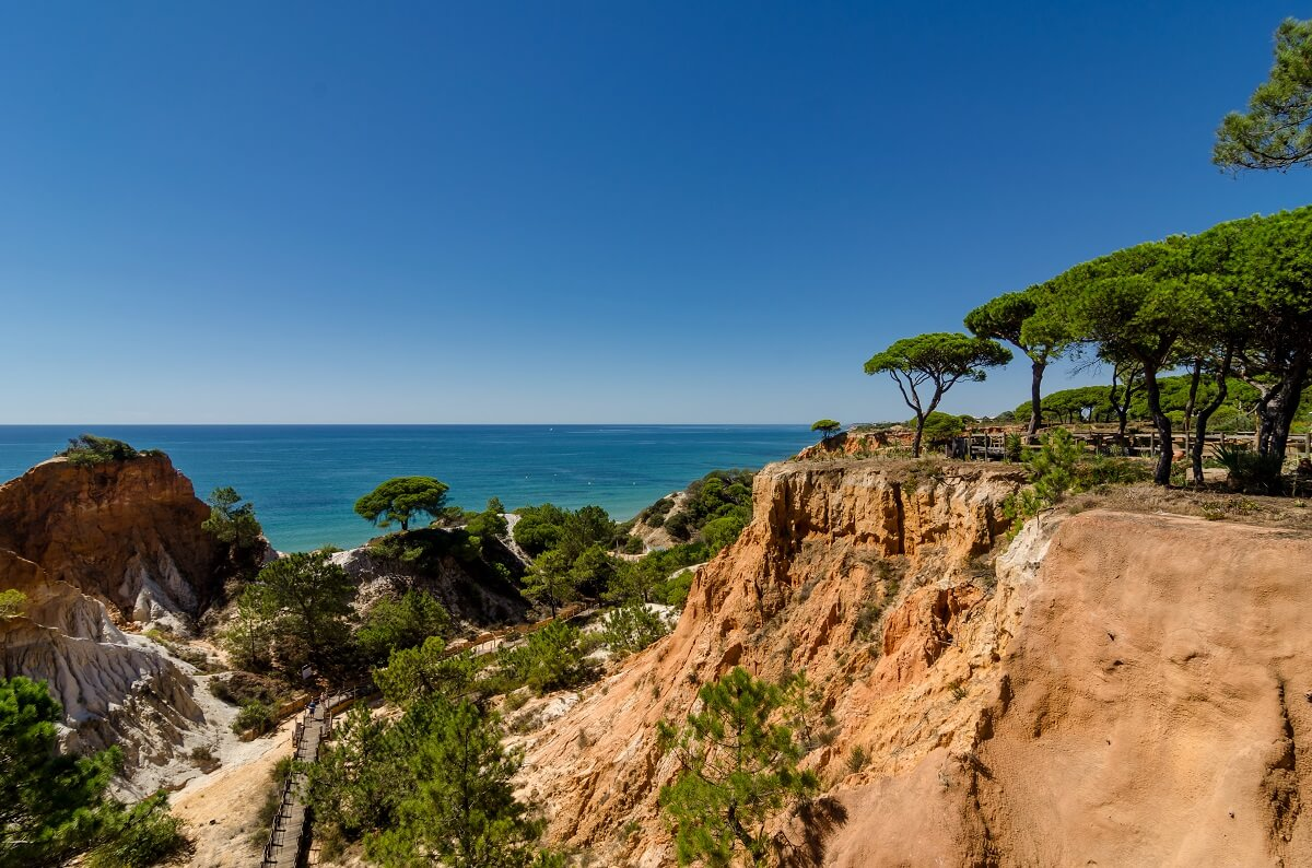 Ocean view from Pine Cliffs resort, Algarve