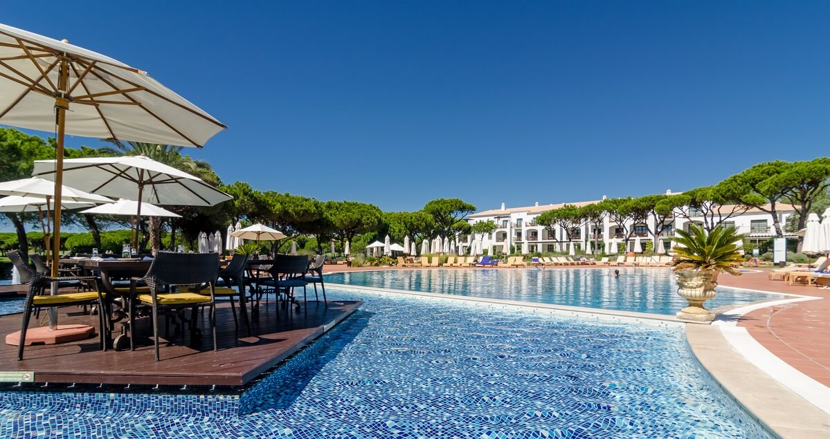 Pool at Pine Cliffs Resort, Algarve, Portugal