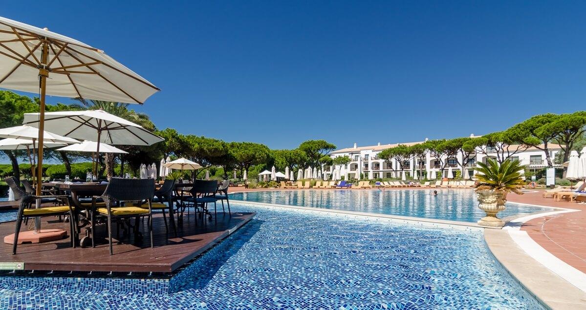 Pool at Pine Cliffs Resort, Algarve, Portugal