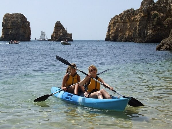 Sea kayaking off the Portuguese coast